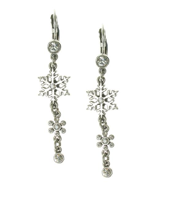 A & C Winter Dream Dangly Snowflake Earrings