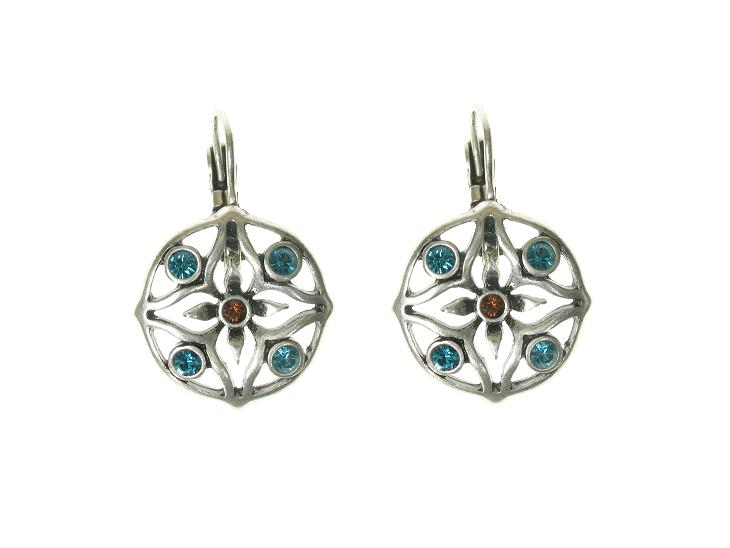 A & C Elephant  Earrings - Silver/Blue