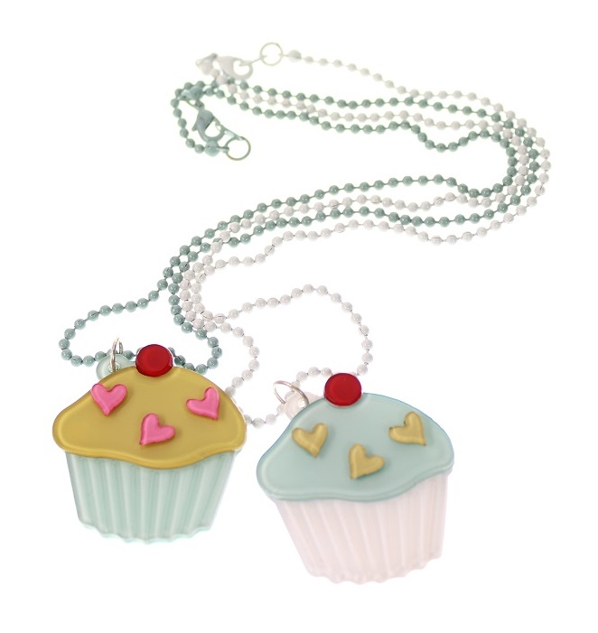 BIG BABY Cup Cake/Iced Bun Necklace