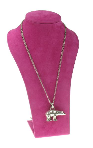 A & C Winter Dream Long Length Polar Bear Necklace