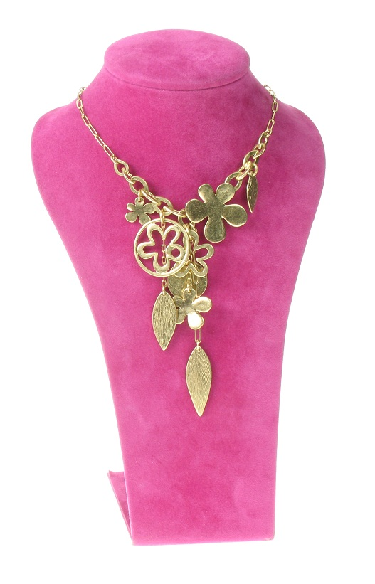 The Bohm Blossom Flower Charm Necklace - Gold Plate