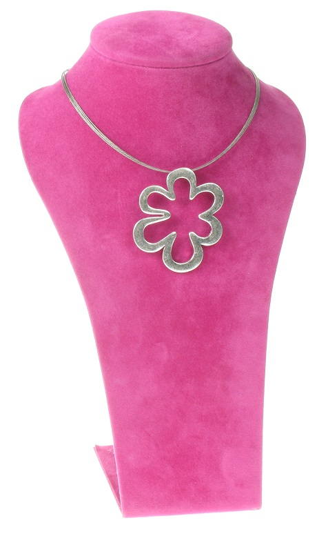 The Bohm Blossom Pendant Necklace - Silver Plate