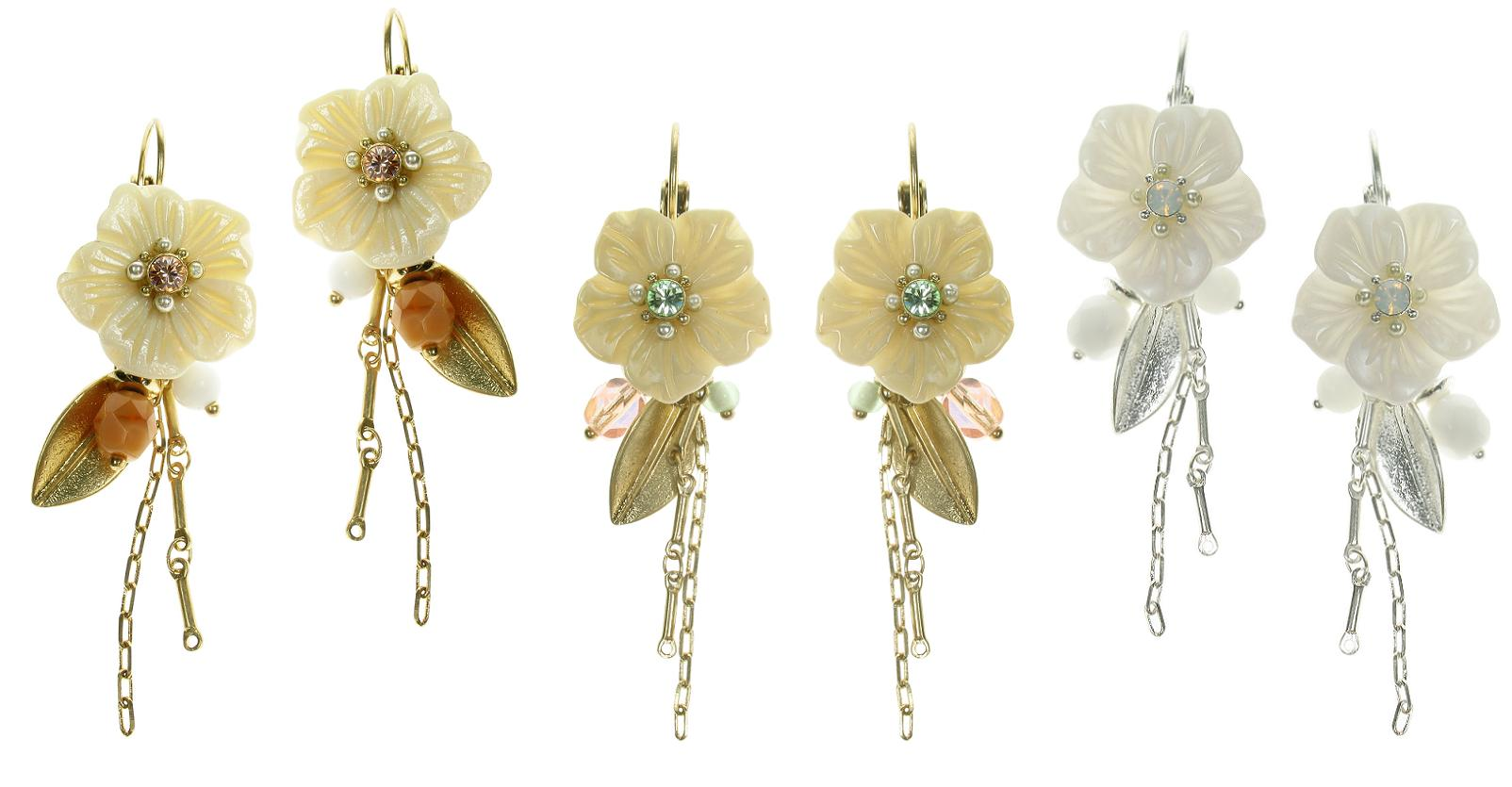 Bohm Garden of Eden M.O.P Flower Earrings