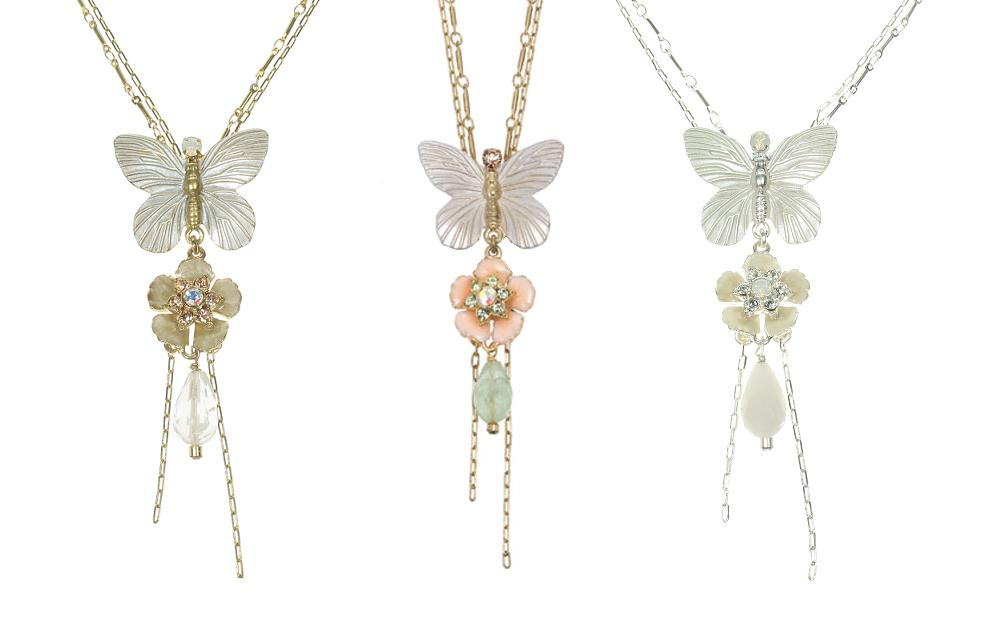 Bohm Garden of Eden Butterfly Trio Pendant Necklace