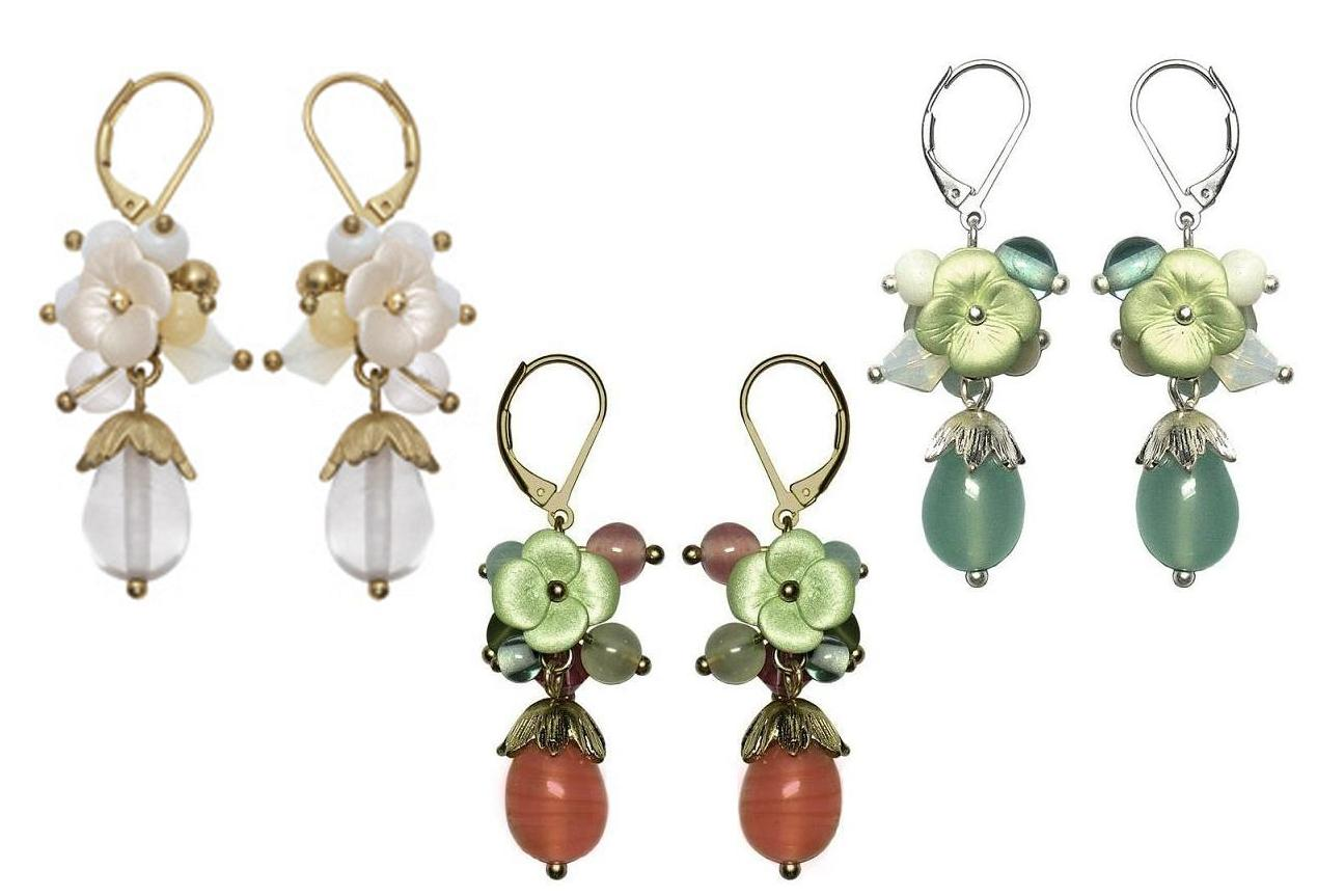 Bohm Flourescence Dangly Cluster Earrings