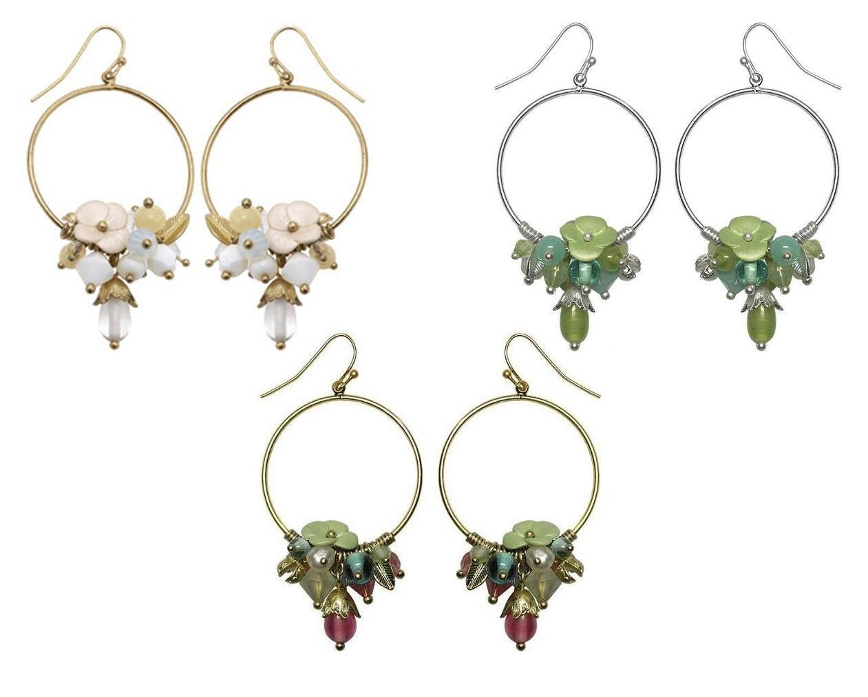 Bohm Flourescence Hoop Cluster Earrings
