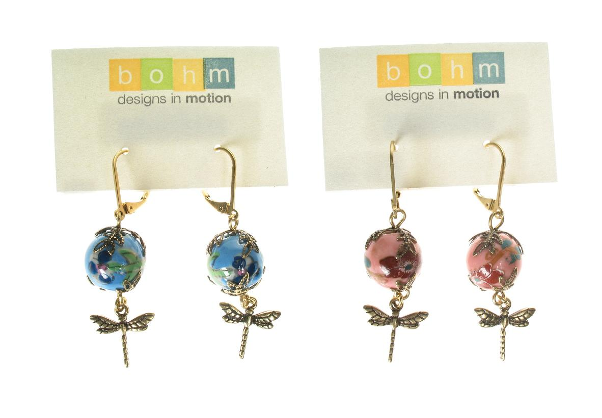 Bohm Summertime Jamboree Porcelain Bead Earrings