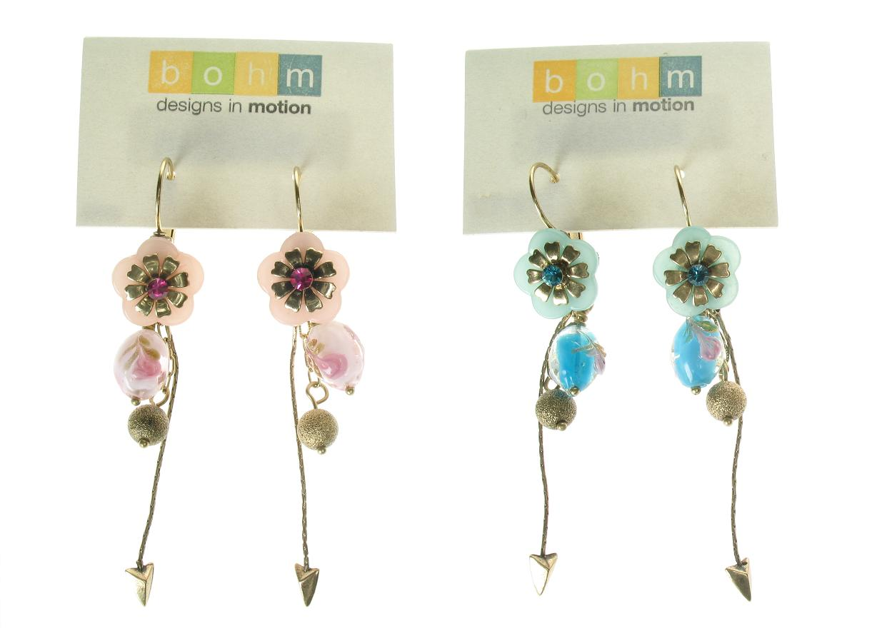 Bohm Summertime Jamboree Flower Drop Earrings