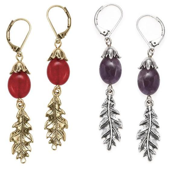 Bohm Autumn Woodland Oak Leaf Earrings