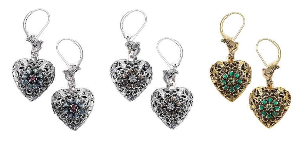 Bohm Bohemian Heart Locket Earrings