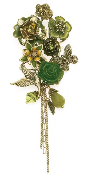 The Bohm - Flowers & Foliage - Corsage Brooch