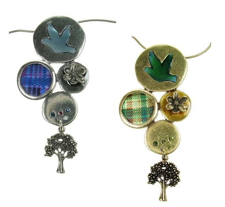 The Bohm - 'All That Plaid' - Multi-Motif Pendant Necklace
