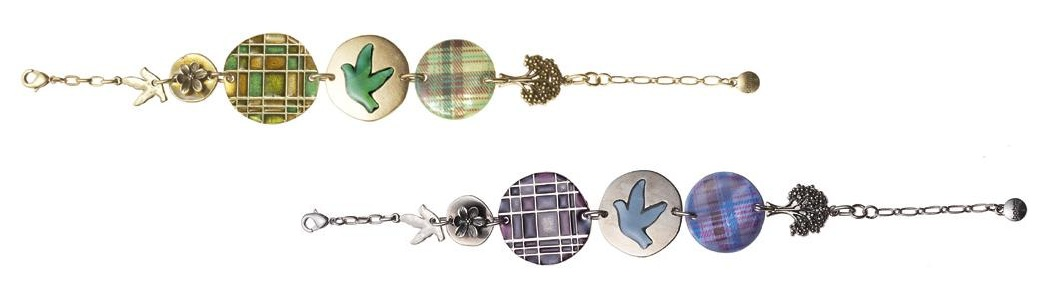 The Bohm - 'All That Plaid' - Adjustable Panel Bracelet