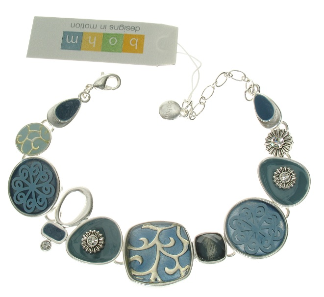 The Bohm - City Chic - Adjustable Bracelet - Silver/Blue