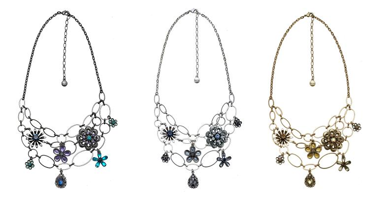 Bohm Vogue Flower Jewel Necklace