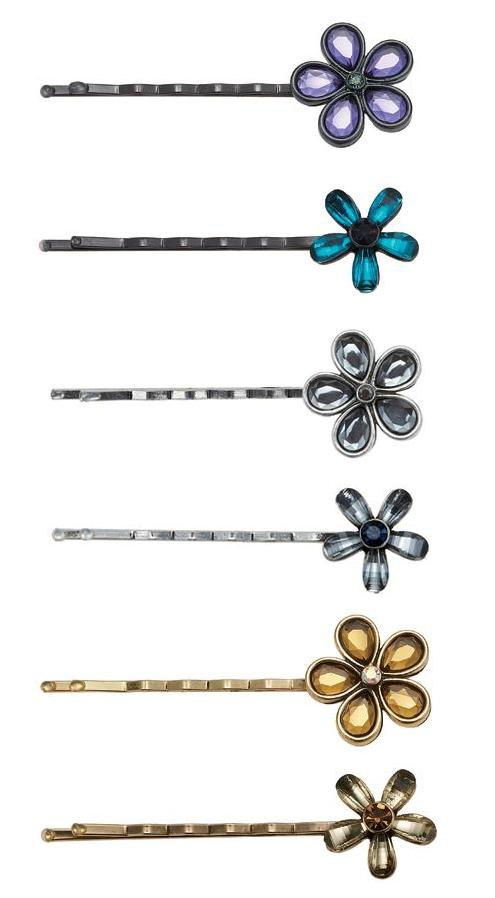 Bohm Vogue Flower Hair Pin Clips