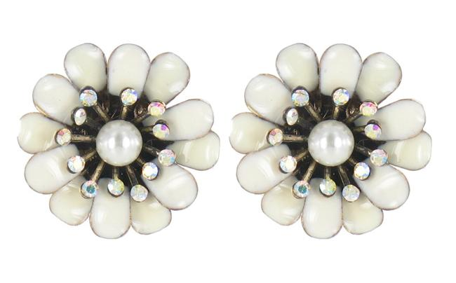Bohm Bursts Of Brilliance Double Flower Earrings