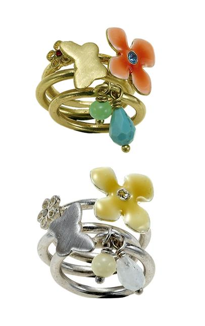The Bohm Delicate Trinkets Sized Triple Rings