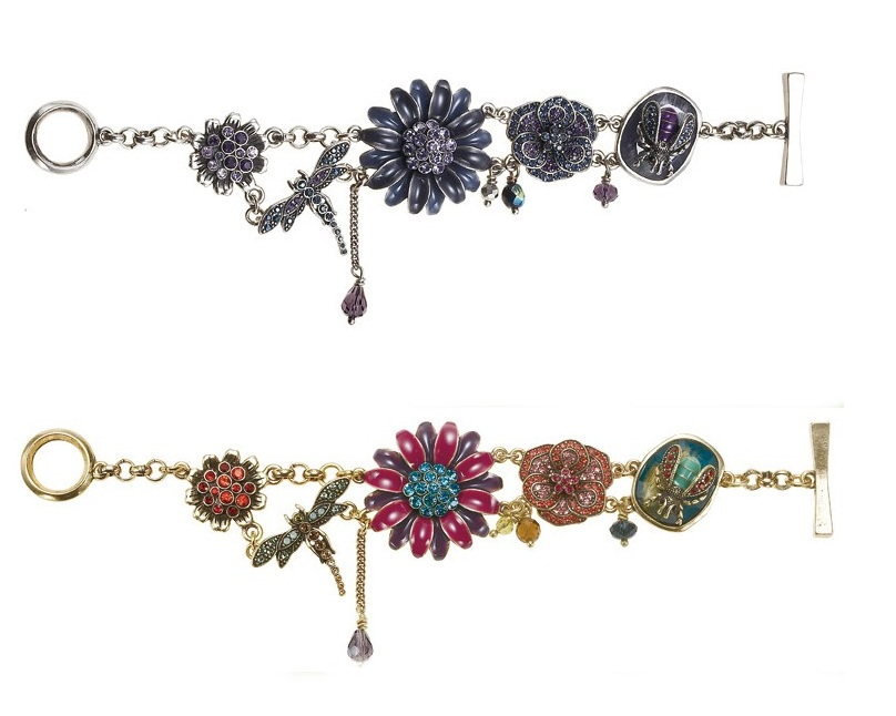 Enchantment Dragonfly & Flower Bracelet