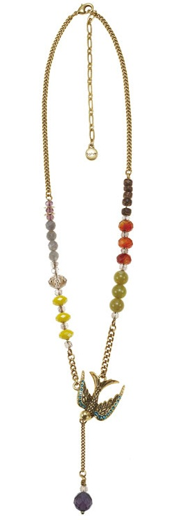 Cluster Allure Necklace Gold/Multi-Colours - THE BOHM