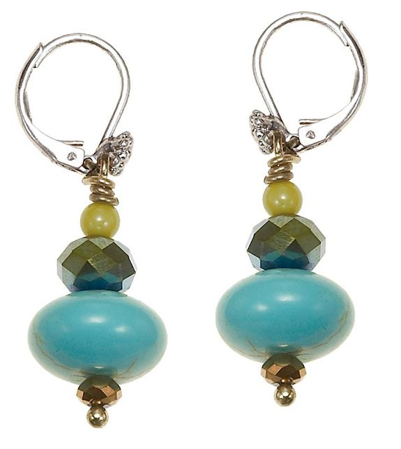 The Bohm Butterfly Romance Bead Drop Earrings  - Gold/Silver/Green/Turquoise