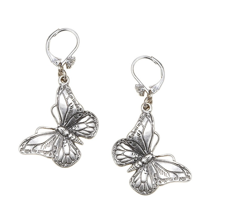 The Bohm Butterfly Romance BUTTERFLY Drop Earrings  - Silver