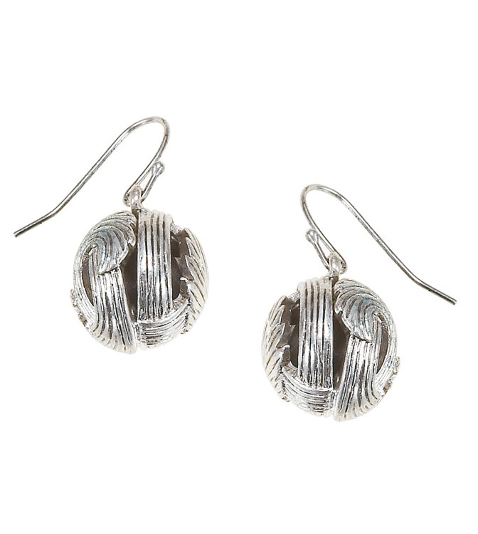 The Bohm Free Spirit Ball Earrings  - Burnished Silver Plate