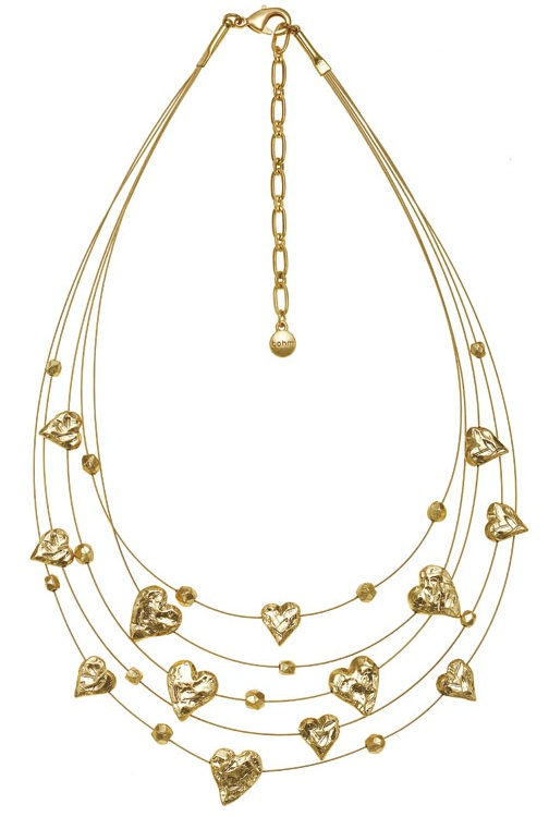 Bohm Hearts Desire Multi-Strand Necklace - Gold Plate