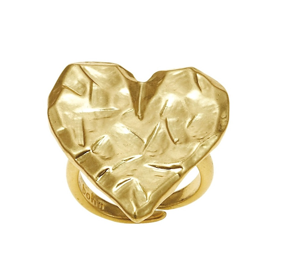 Bohm Hearts Desire Adjustable Ring - Gold Plate