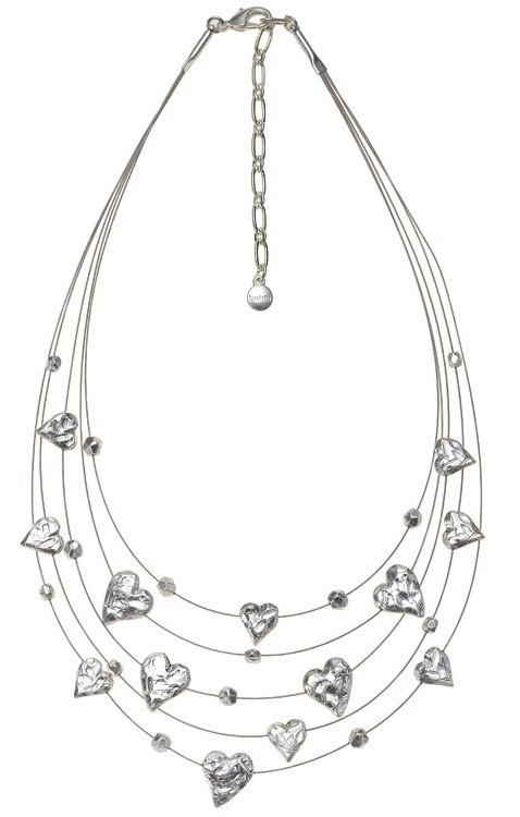 Bohm Hearts Desire Multi-Strand Necklace - Silver Plate