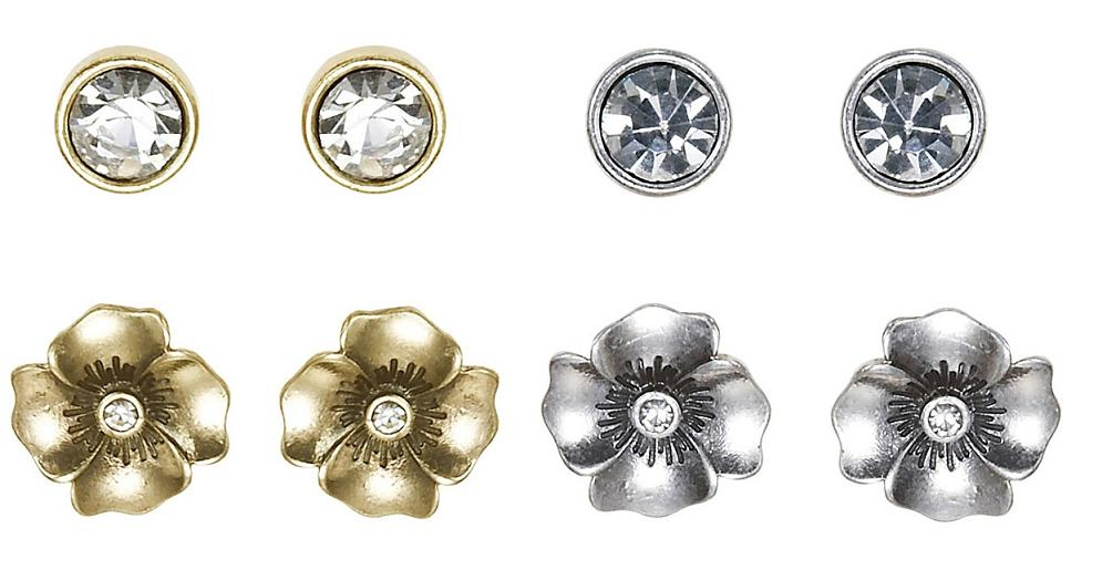 Bohm Pretty Petals - 2 Pairs Stud Earrings