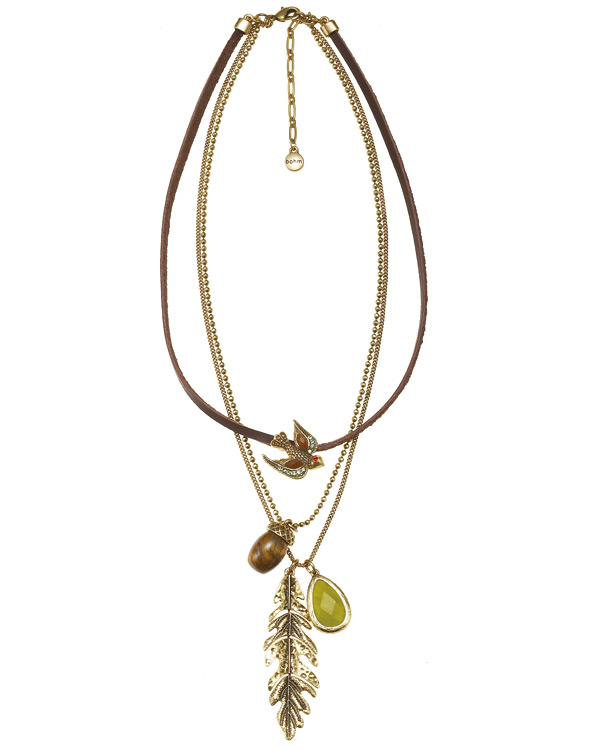 The Bohm - Autumn Ray - Multi-Strand Necklace - Gold Plate