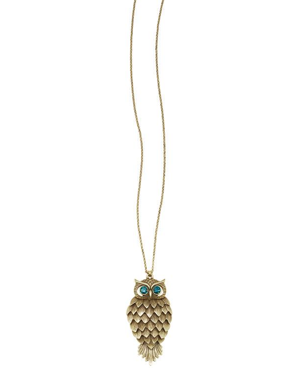 The Bohm - OWL Cosmo Sense - Long length Pendant Necklace - Gold Plate