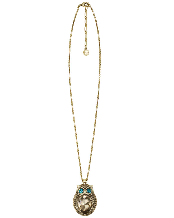 The Bohm - OWL Cosmo Sense - Pendant Necklace - Gold Plate