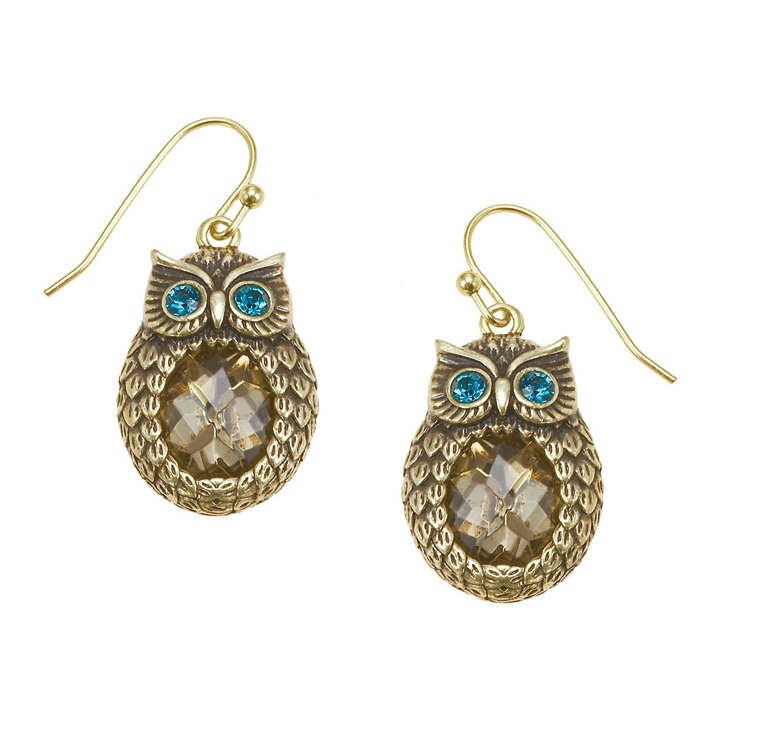 The Bohm - OWL Cosmo Sense - Dangly Earrings - Gold Plate