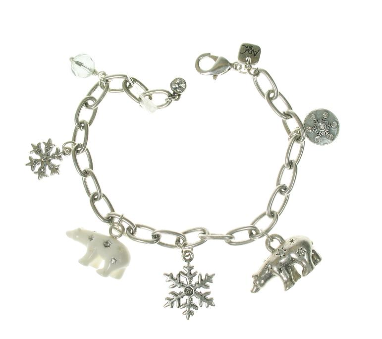 A & C Winter Dream Adjustable Charm Bracelet