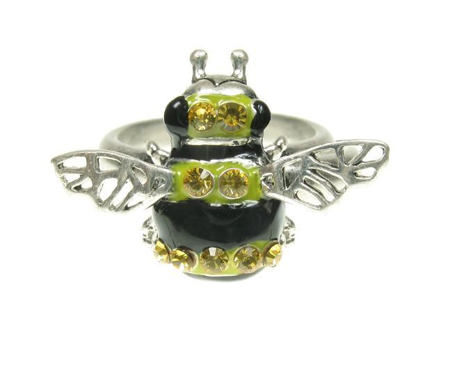 A & C Garden Bumble Bee Adjustable Ring