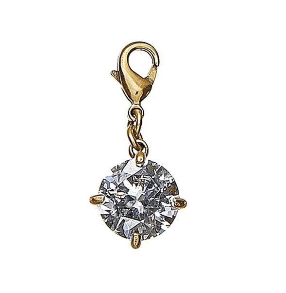 Pilgrim Charm - Rock - Clear Gem/Gold