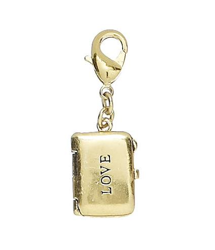 Pilgrim Charm Gold Rectangular LOVE Locket