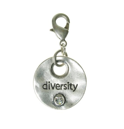 A & C Disc Charm 'DIVERSITY' Silver Plate