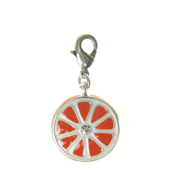 A & C 'Fruit Basket' Slice Of Orange Charm