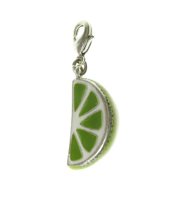 A & C 'Fruit Basket' Slice Of Lime Charm