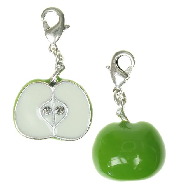 A & C 'Fruit Basket' Half An Apple Charm