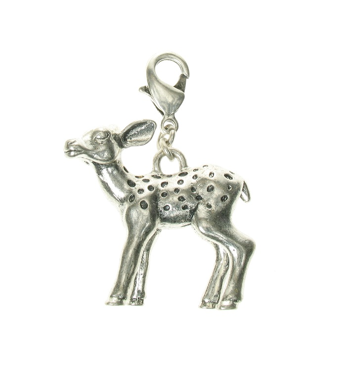 A & C Bambi Fawn Silver Plate Charm