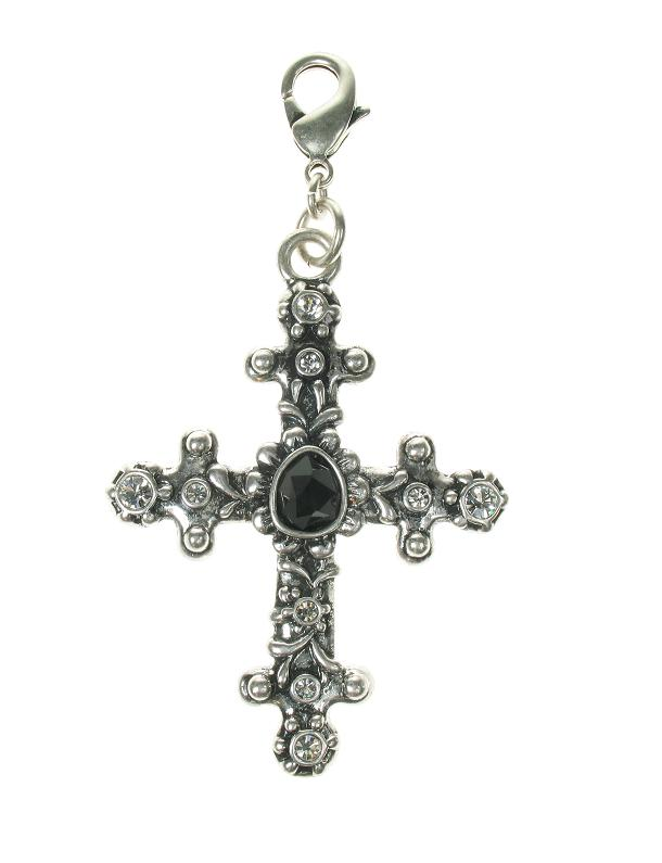A & C Large Ornate Swarovski Cross Charm