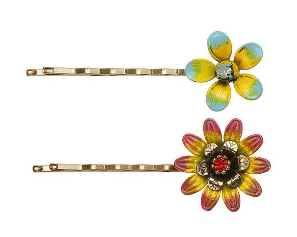 Bohm Aloha Flower Bobby Hair Clips