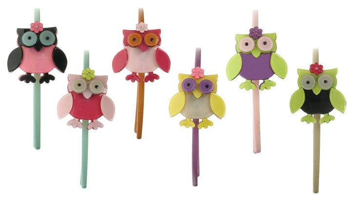 BIG BABY Owl & Flower Slim Hair Band