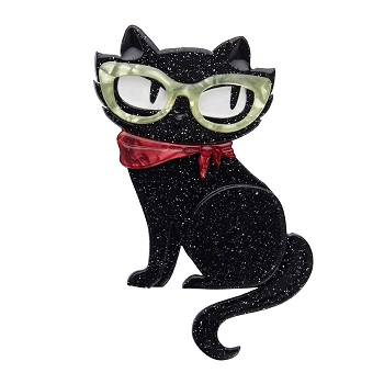 Elissa the Indie Cat - Erstwilder Black Cat Brooch