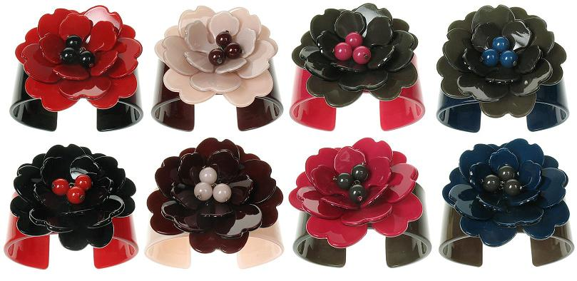 BIG BABY Wide Peony Flower Cuff Bangle/Bracelet