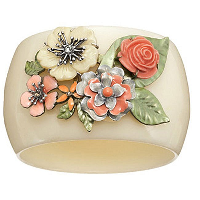Bohm Floral Couture Flower Bangle